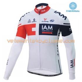 Tenue Cycliste Manches Longues et Collant à Bretelles 2016 IAM Cycling Hiver Thermal Fleece N001
